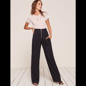 Reformation Lawrence Navy pants